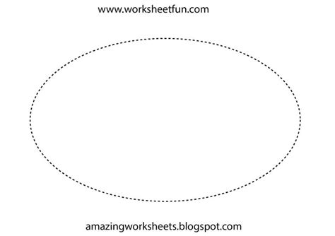 Best Photos Of Oval Stencil To Trace  Oval Shape Template