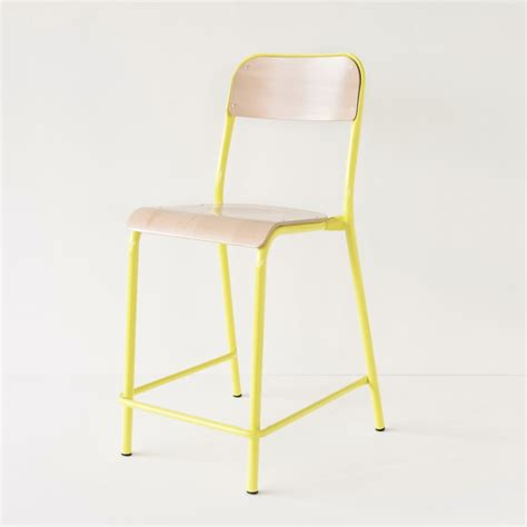 chaise d ecole chaise d 39 école jaune rehaussée