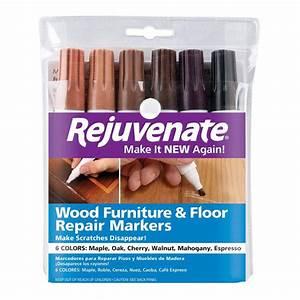 rejuvenate wood furniture and floor repair markers rj6wm With furniture scratch repair kit home depot