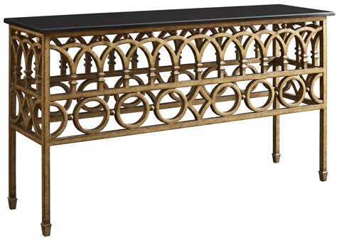 Iron Console Table W Marble Top By Fine Furniture Design