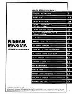 1999 Nissan Maxima Repair Manual Download