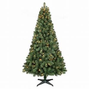 6ft Prelit Full Artificial Christmas Tree Alberta Spruce