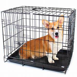 42quot x large dual door folding pet crate with removable for Dog crate liners