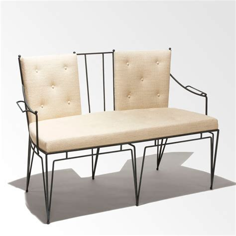 Wrought Iron Settee by Wrought Iron Settee And Chairs By Marc Du Plantier At 1stdibs
