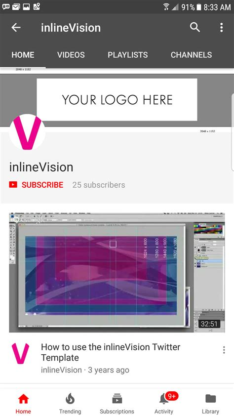 youtube channel art size  mobile inlinevision
