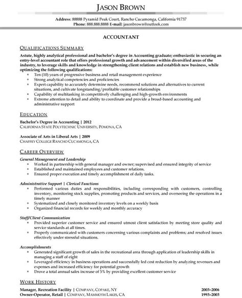 Accountant Resume Sle by 44 Best Resume Sles Images On Resume