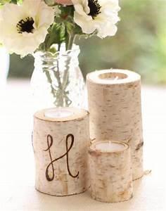 Ideen Für Kerzenständer : 35 ideen f r birkenstamm deko bringen sie die natur in ihre wohnung birken birkenstamm ~ Orissabook.com Haus und Dekorationen
