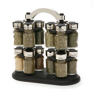 Thompson Spice Rack by Olde Thompson Carousel Spice Rack With 16 Spices Included