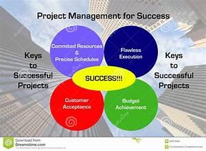 Project Management Success Diagram Stock Illustration