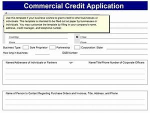 credit application form credit application forms With commercial credit application template