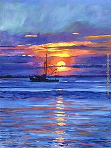 David Lloyd Glover Salmon Trawler at Sunrise Painting ...