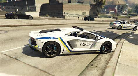 Ukrainian Police Lamborghini Aventador Gta5modscom