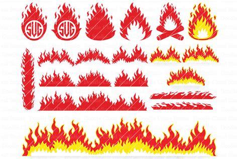 fire svg flames svg flame monogram campfire clipart