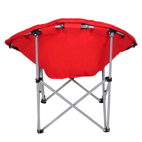 microsuede folding saucer chair microsuede folding padded saucer moon chair lagre