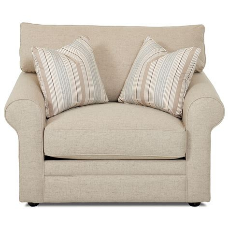 Comfy Chair by Klaussner Comfy 36330 C Chair With Rolled Arms Unattached