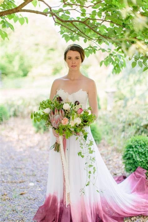 bridal skirt cordelia dip dyed wedding dress ombre