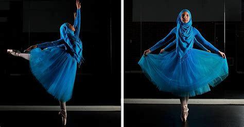 worlds  muslim hijabi ballerina shows