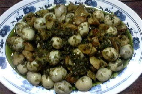 Mengenal baceman khas jogja kuliner yang sekaligus bagian. Resep Telur Puyuh Kentang Lado Mudo Khas Sumatera Barat