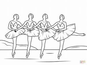 Swan Lake Ballet coloring page | Free Printable Coloring Pages