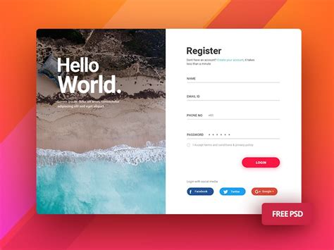 login screen ui  mobile  desktop  itobuz