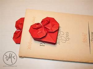 Herz Falten Origami : herz falten papier herz aus papier falten my blog origami herz falten als lesezeichen oder ~ Eleganceandgraceweddings.com Haus und Dekorationen