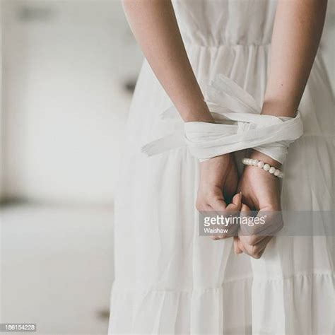 woman hands tied     premium high res