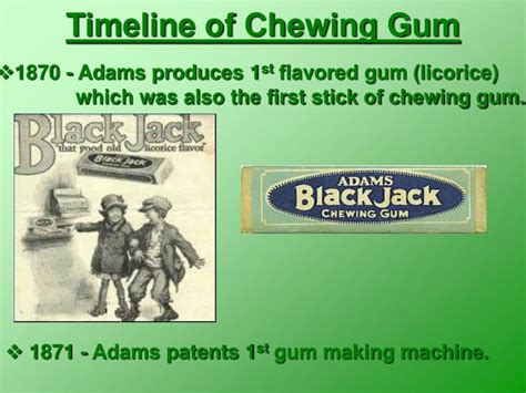 history  chewing gum  rocky lundy powerpoint