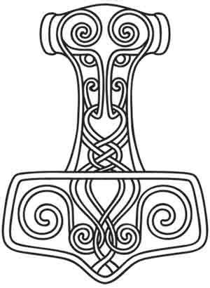 Thor's Hammer design (UTH2424) from UrbanThreads.com   Viking embroidery, Viking pattern, Viking