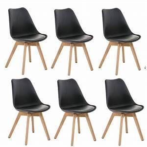 lot de 6 chaises de salle a manger scandinave simili cuir With meuble salle À manger avec chaise simili cuir