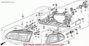 Honda Civic 1993  P  2dr Ex-s  Ka Kl  Headlight
