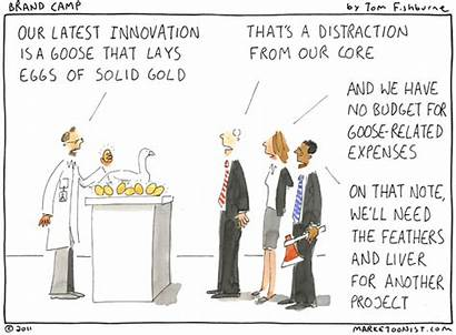 Golden Innovation Eggs Lays Marketoonist Brief Cartoon