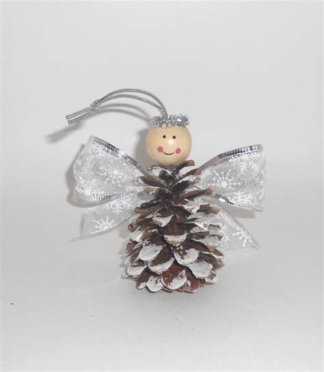 pine cone christmas ornaments crafts angel pine cone ornament by silvermoonbathandspa 4 50 made by me pinterest pine cone
