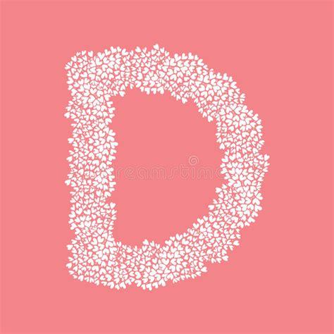 letter d floral design stock vector 169 kudryashka 3233753 the letter d in the alphabet flower bush 40767