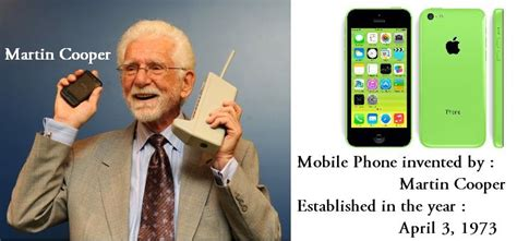 cell phone inventor mobile phone is invented by martin cooper motorola