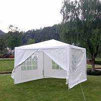 fine gazebo party tent canopy Outdoor Canopy Party Wedding Tent White Gazebo Sunshade /4 ...