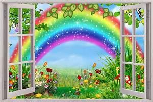 Fairy Garden 3D Window Decal Wall Sticker Home Decor Art