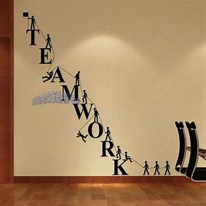 teamwork letters wall sticker removable decal vinyl With wall decals letters removable