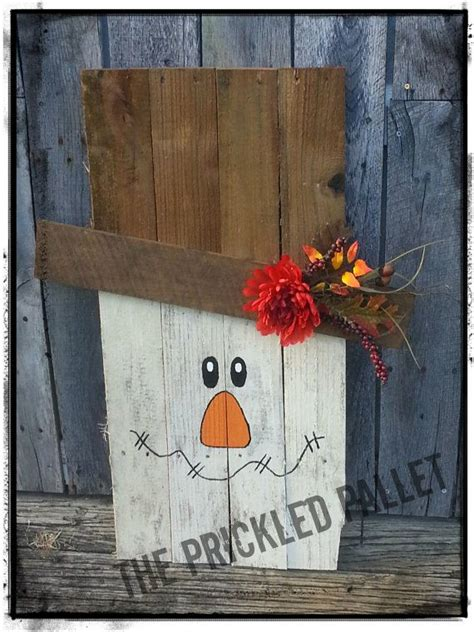 adorable wooden scarecrow   recycled pallet