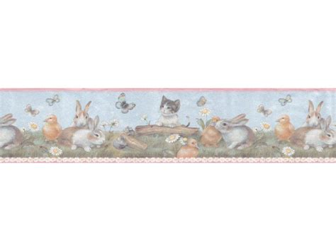 rabbits animals wallpaper border