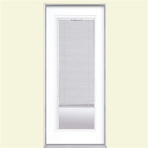 mini blinds for doors masonite 32 in x 80 in mini blind painted steel prehung 9170