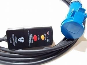 6m 230v 13a Rcd Plug To Commando Socket Adaptor