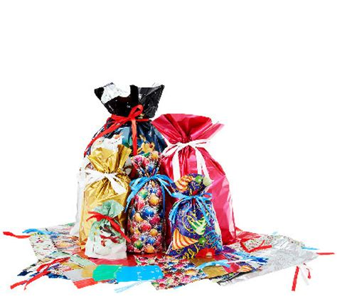 kringle express 62 piece e z drawstring holiday gift bag