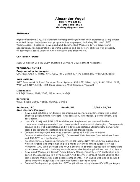 Wpf Resume by Net Resume Wpf