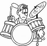Coloring Drum Drums Pages Drummer Rock Roll Printable Colouring Sheets Play Cartoon Band Alf Funny Coloringonly Categories Popular Coloringhome Template sketch template