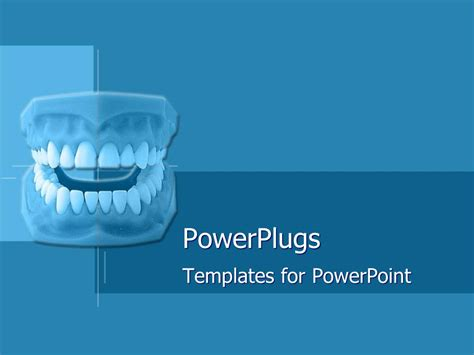 Powerplugs Templates For Powerpoint by Powerpoint Template Set Of Dentures On Blue Geometric