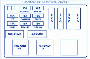 Buick Regal 1994 Underhood1 Fuse Box  Block Circuit Breaker Diagram
