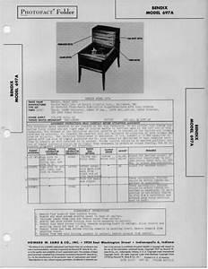 1947 Bendix 697a Radio Service Manual Photofact Schematic