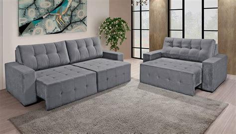 sofa tres lugares cinza sofa reclinavel cinza tres lugares tricurioso
