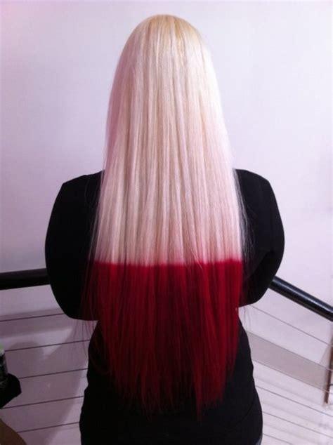 Red Dip Dye On Tumblr