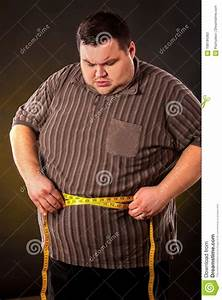 Measuring Body For Weight Loss Man Belly Fat With Tape Measure Weight Loss Around Body